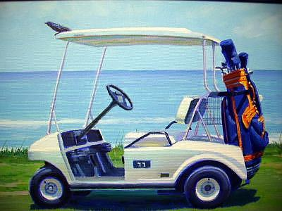 The Golf Cart Painting by  Paul Milosevich