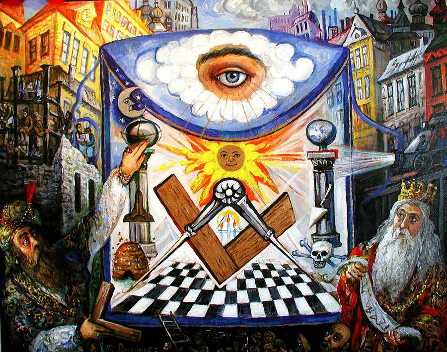 , The Masonic Apron, Morality History Allegory by Ari Roussimoff