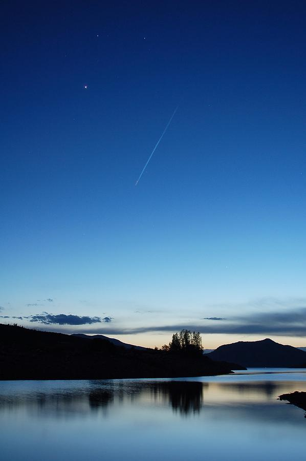 Sky Photograph -  The Shooting Star by Jessica Wallace
