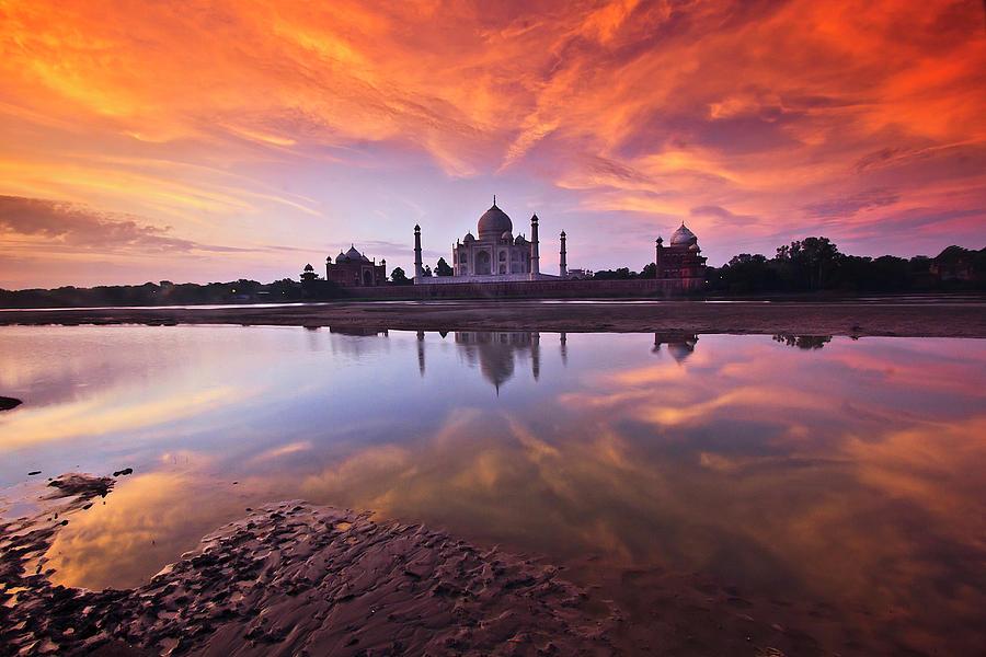 Horizontal Photograph - .: The Taj :. by Photograph By Ashique