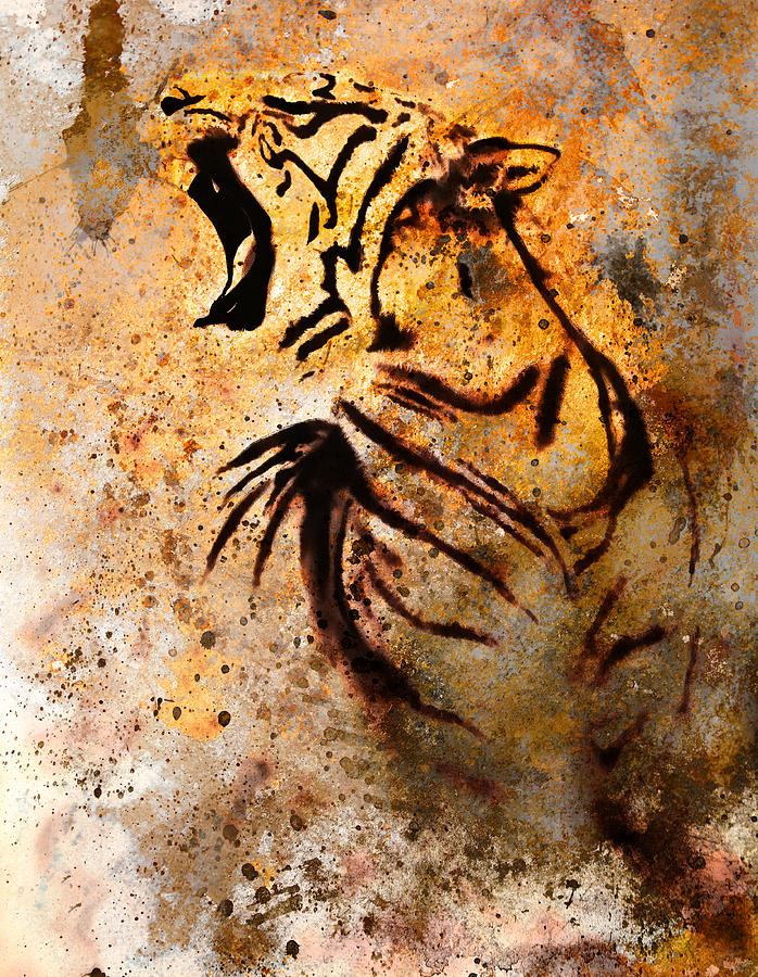 Case Design picture collage phone case : Tiger Collage On Color Abstract Background Rust Structure Wildlife ...
