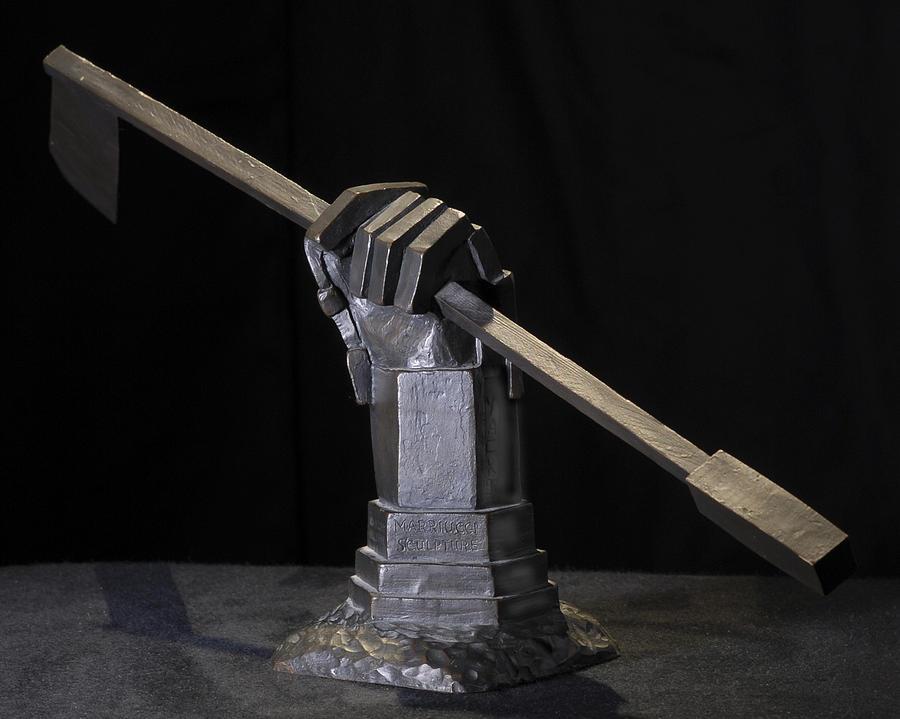 Ice Hockey Sculpture -  Tribute To Mariucci by Ken Yackel