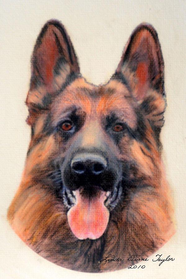 German Shepherd Painting -  Tribute To The German Shepherd by Linda Diane Taylor