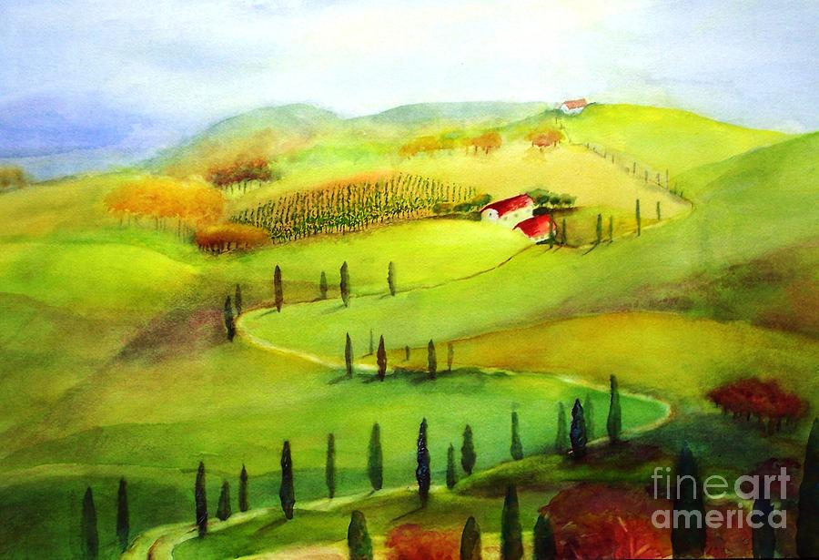 Paintings Painting -  Tuscany by Maryann Schigur