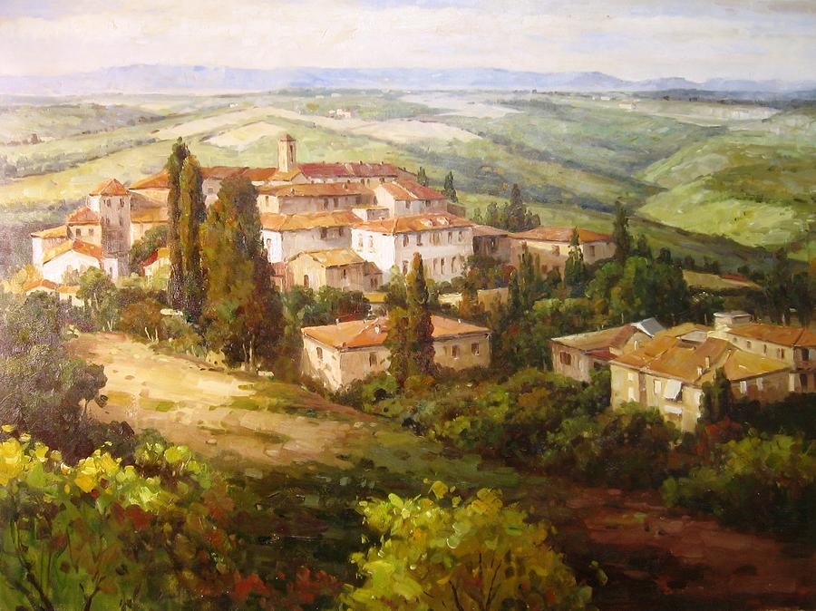 Tuscany Painting -  Universita by Gaston - Frederick Cooper collection