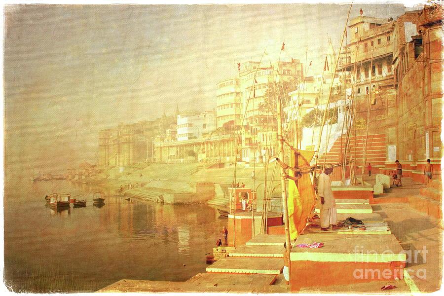 Varanasi Mixed Media -  Varanasi by Alexey Sukhopar