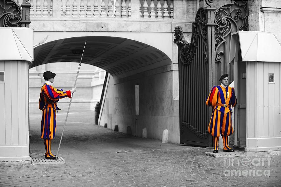 Swiss Guard Photograph -  Vatican Swiss Guard by Stefano Senise