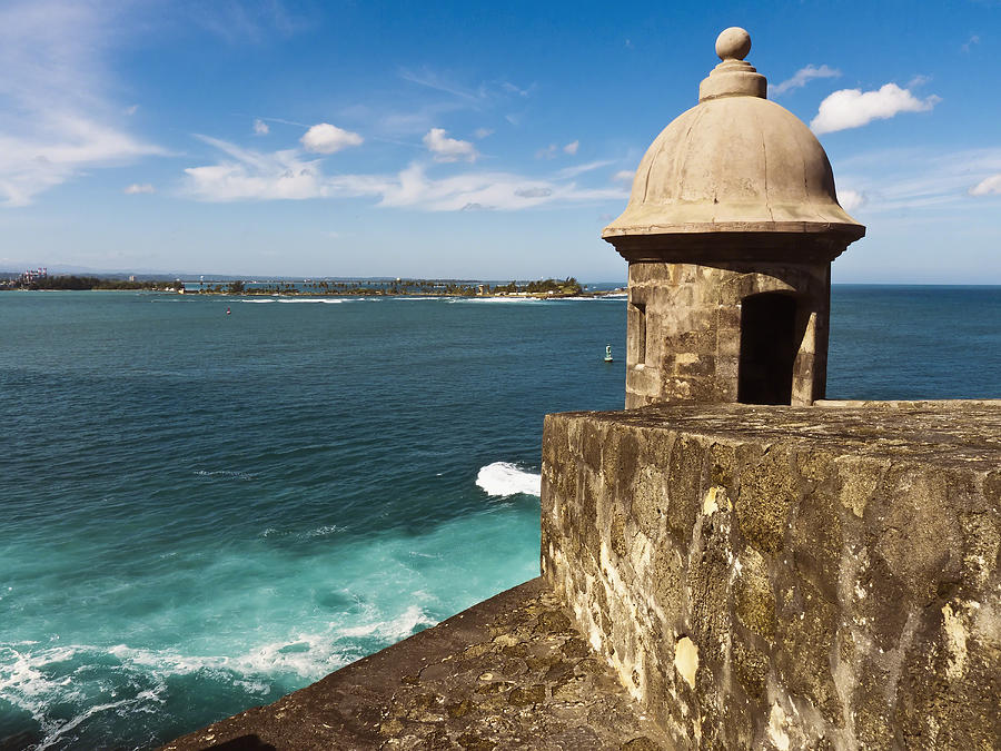 Puerto Rico Photograph -  View From El Morro Fort by George Oze