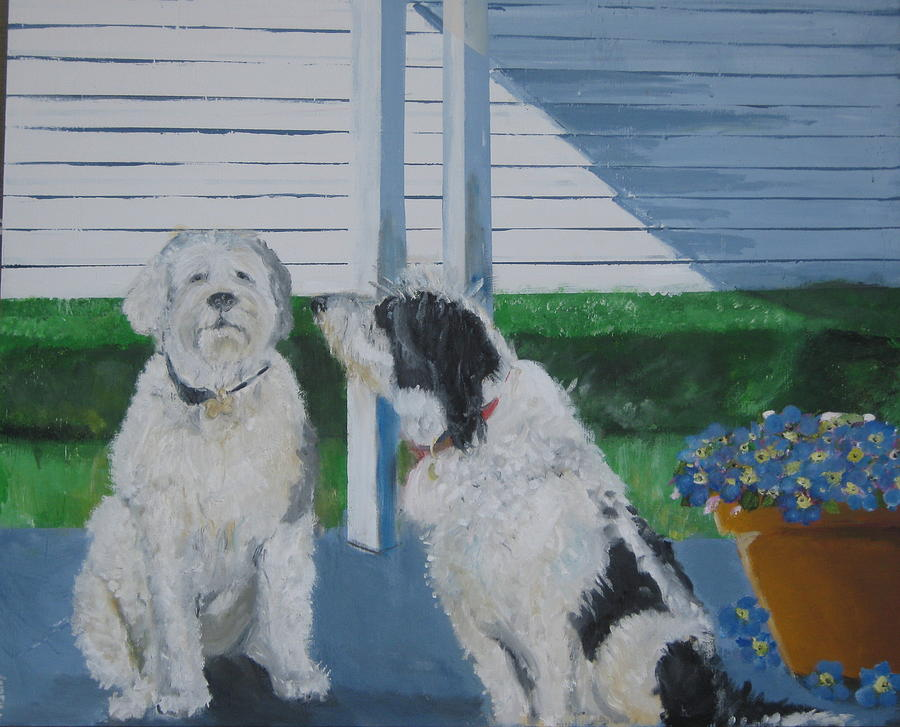 Pet Portraits Painting -   Waiting On The Snack by Terrence  Howell