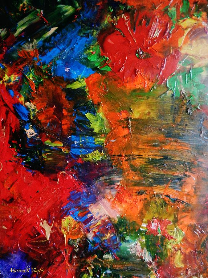 Poetic Painting -  Womans Heart by Marina R Vladis