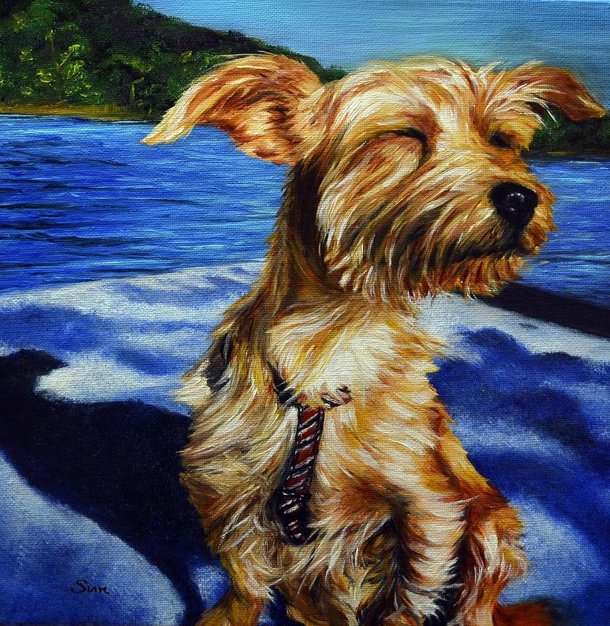 Yorkie Dachshund Dorkie Painting By Sun Sohovich