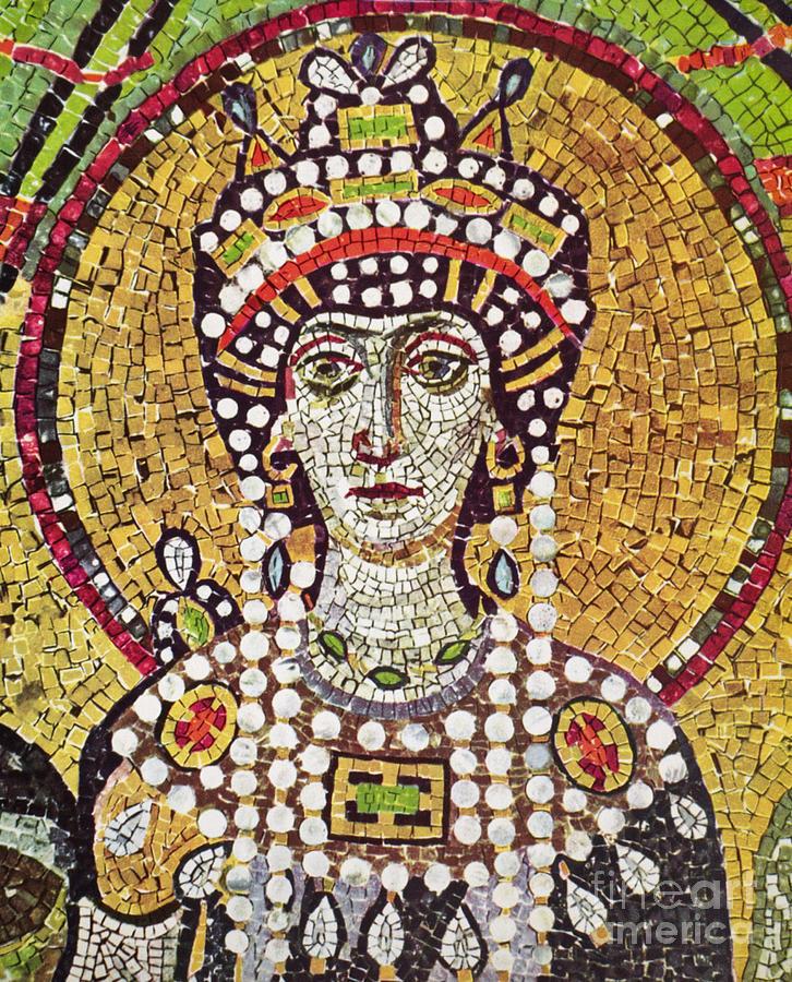 6th Century Painting - Theodora (c508-548) by Granger