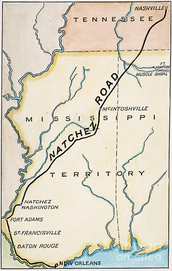 1816 Painting - Natchez Trace, 1816 by Granger