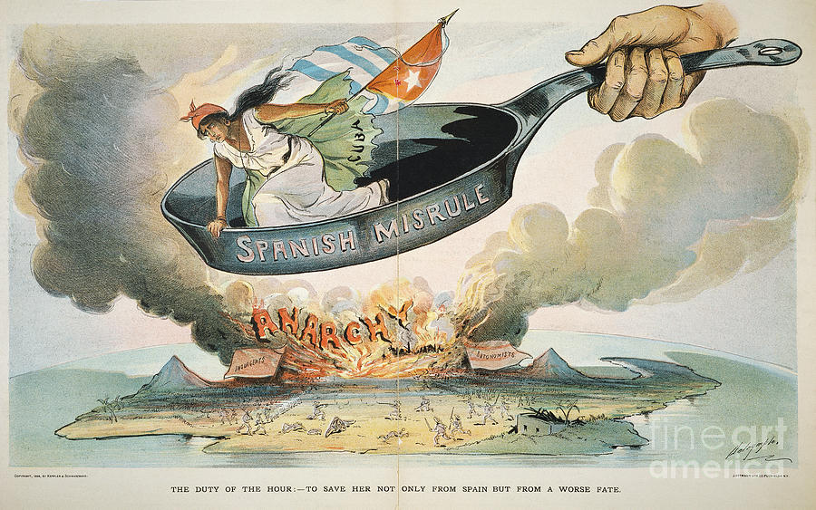 Spanish American War 1898 Painting By Granger
