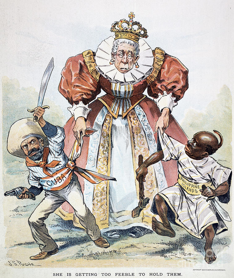 Imperialism Cartoon 1896 Painting By Granger