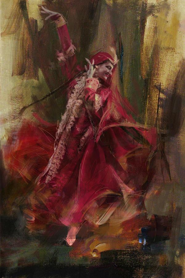 Pashtun Painting - 001 Pakhtun by Maryam Mughal