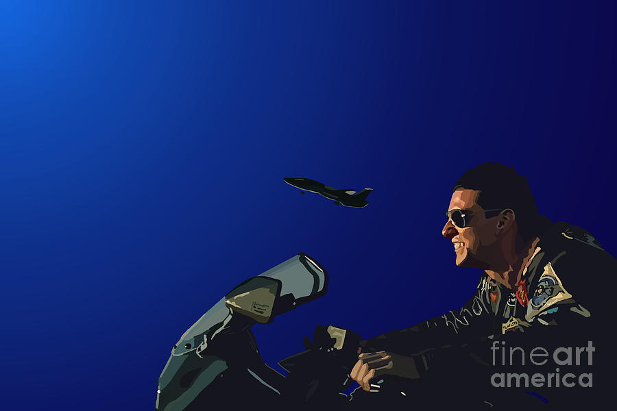 Top Gun Digital Art - 002. The Danger Zone by Tam Hazlewood