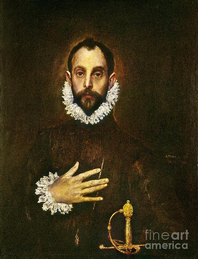 1580 Painting - El Greco: Gentleman by Granger