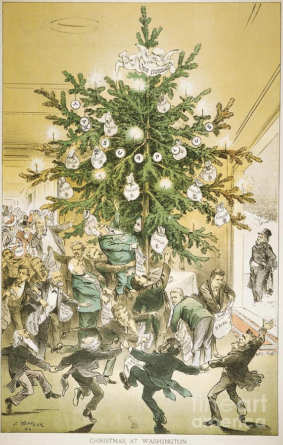 1883 Painting - Treasury Cartoon, 1883 by Granger