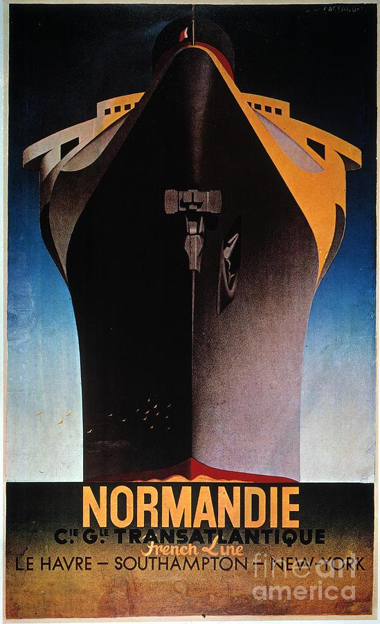 1935 Painting - Steamship Normandie, C1935 by Granger