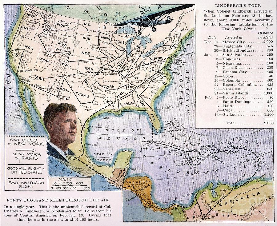 1927 Painting - Charles Lindbergh by Granger
