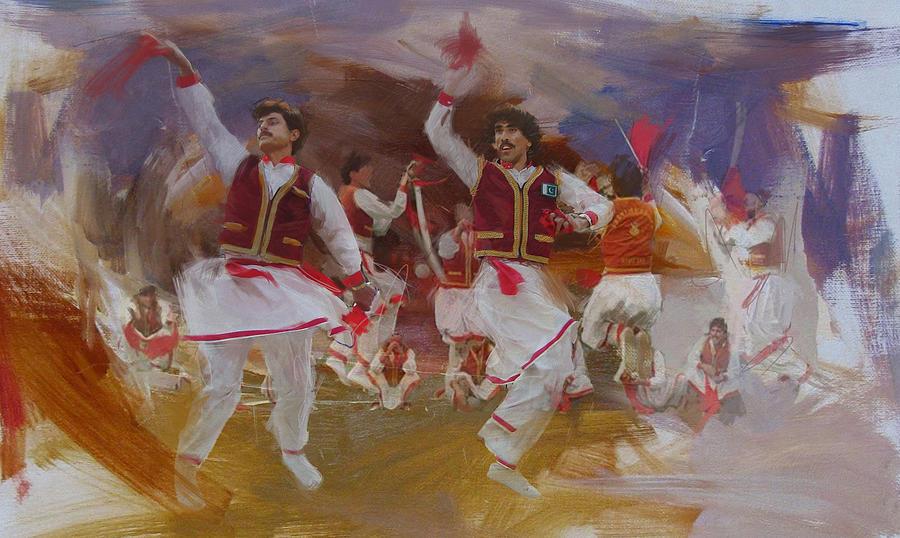 Pashtun Painting - 004 Pakhtun by Maryam Mughal