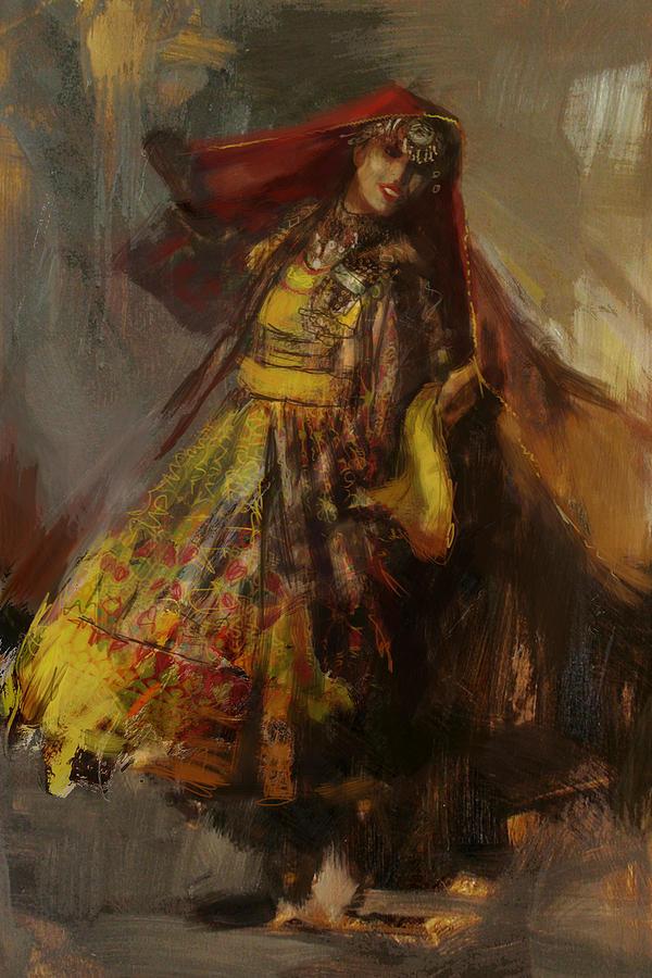 Pashtun Painting - 008 Pakhtun B by Mahnoor Shah