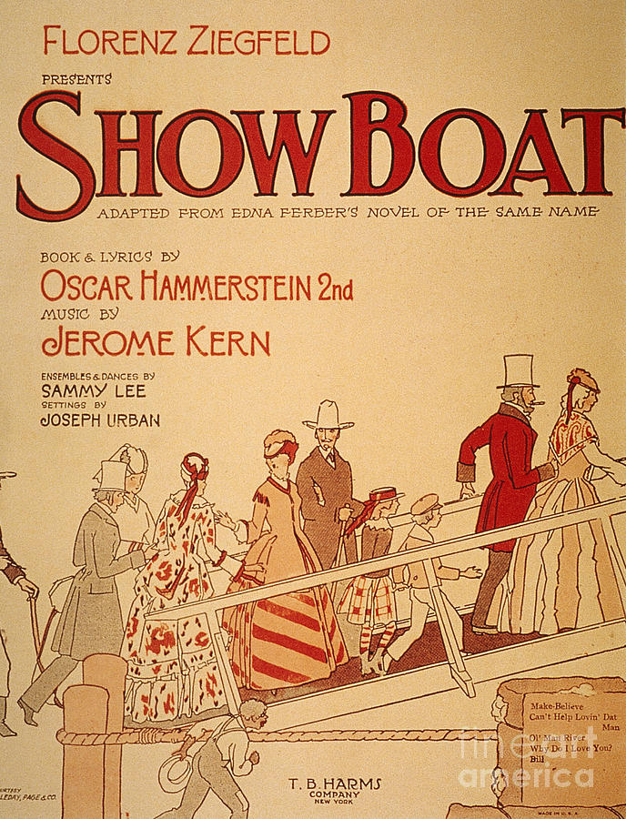 1927 Painting - Show Boat Poster, 1927 by Granger