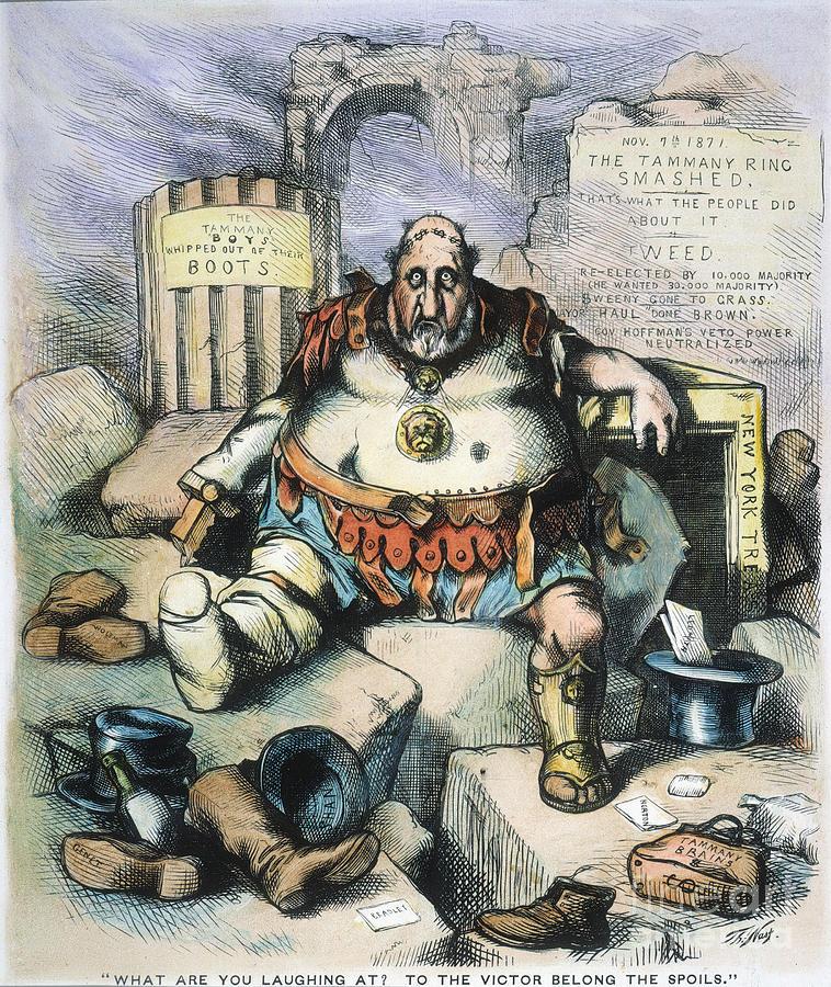 1871 Painting - Nast: Tweeds Downfall by Granger