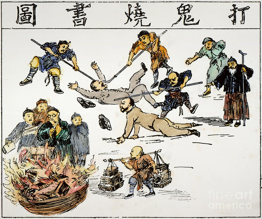 1890 Painting - China: Anti-west Cartoon by Granger
