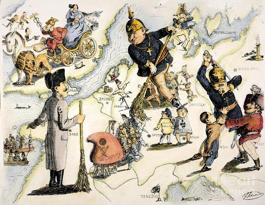 1848 Painting - Europe: 1848 Uprisings by Granger