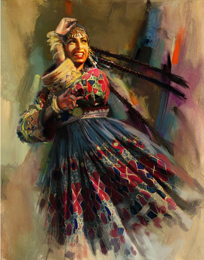 010 Pakhtun Painting By Mahnoor Shah