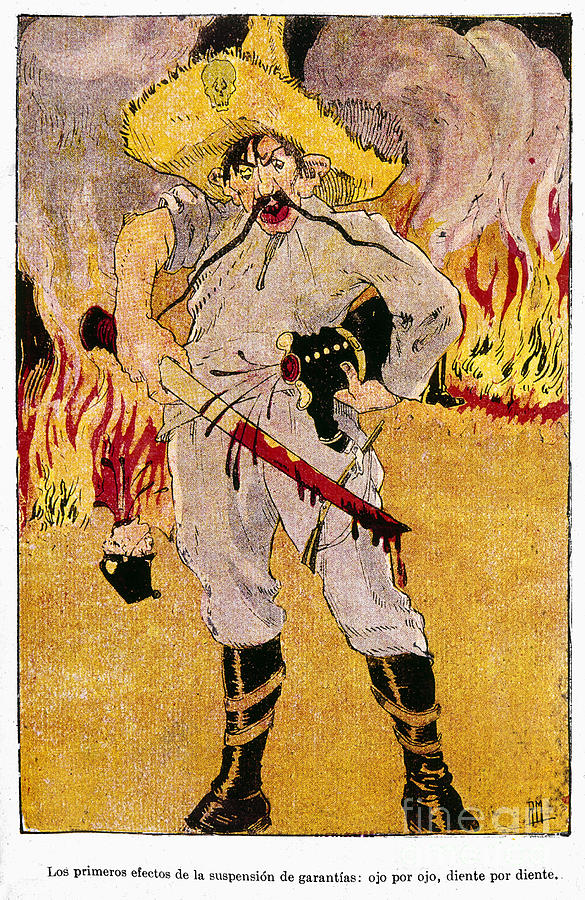 1910s Painting - Mexico: Political Cartoon by Granger