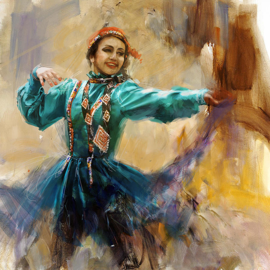 Pashtun Painting - 011 Pakhtun by Mahnoor Shah