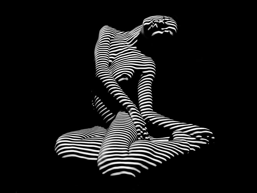 Black exotic nude abstract art, asian porno topia