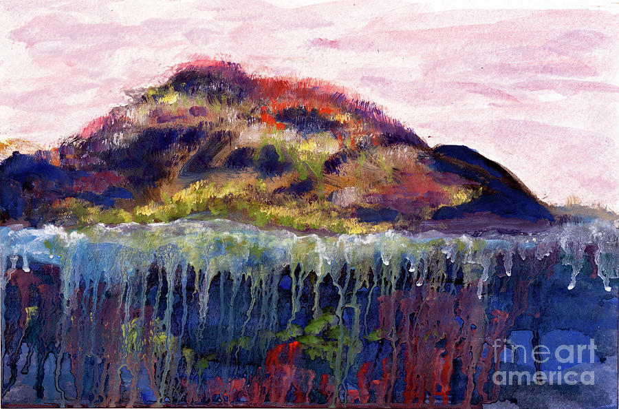 Landscape Painting - 01252 Big Island by AnneKarin Glass
