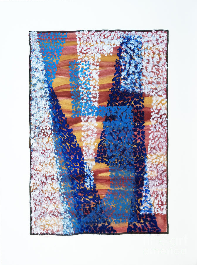 Abstract Painting - 01325 Blue Too by AnneKarin Glass