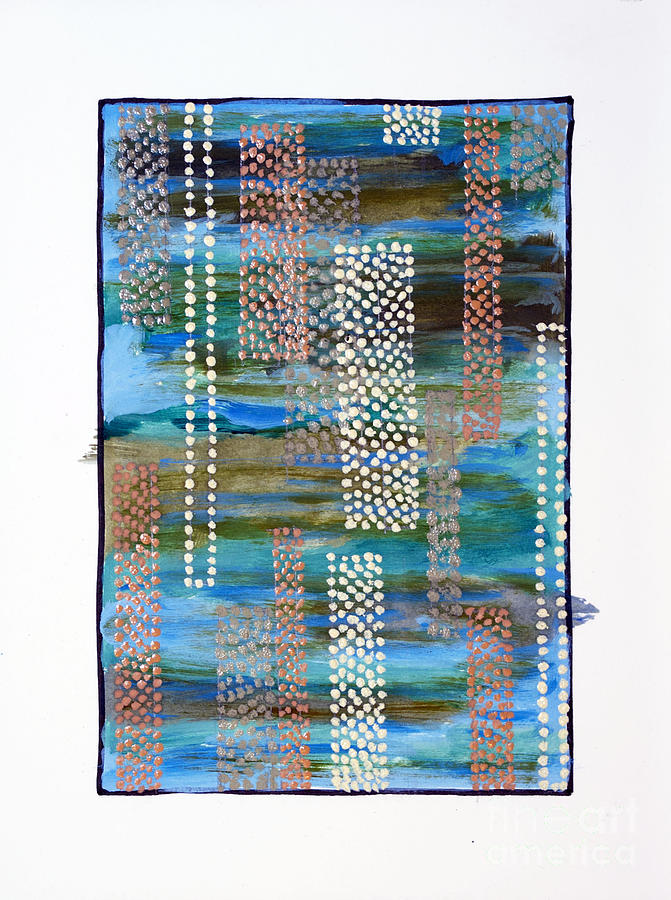 Abstract Painting - 01332 Straight by AnneKarin Glass