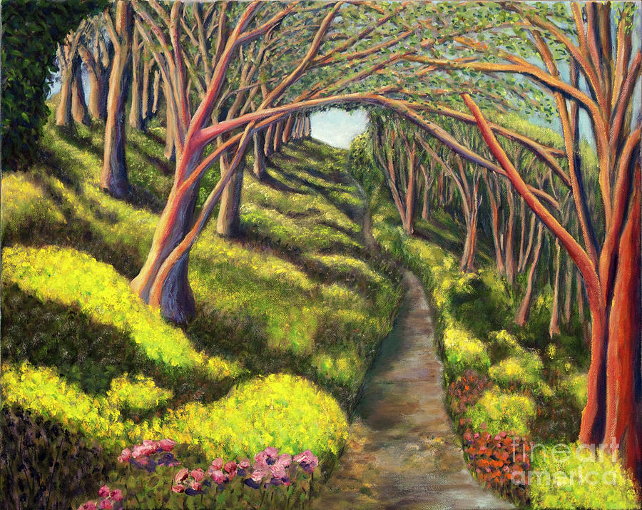 Landscape Painting -  01350  Spring  by AnneKarin Glass