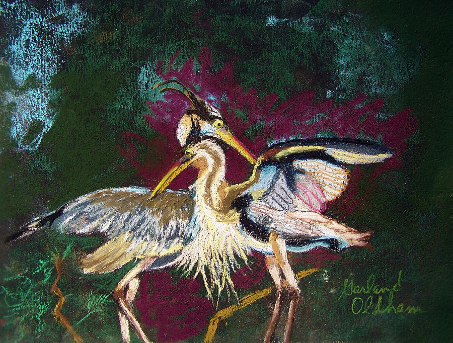 021916 Blue Heron's Dance by Garland Oldham
