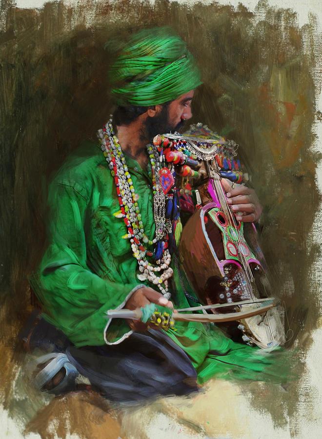 Women Painting - 023 Sindh by Mahnoor Shah