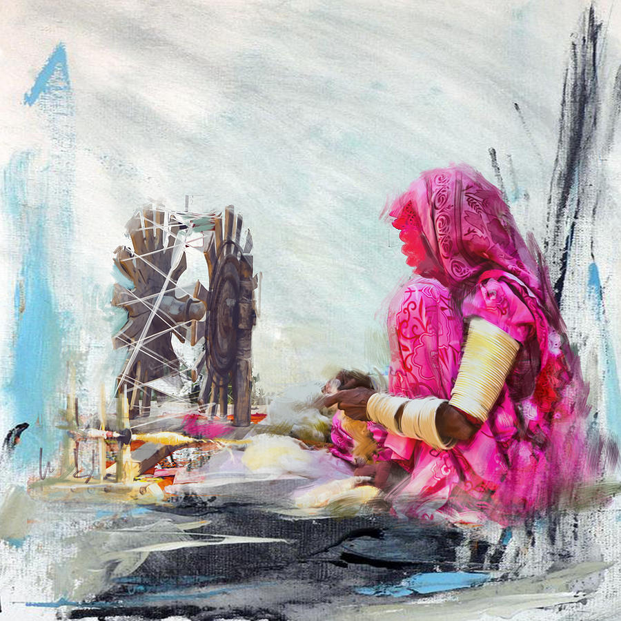 Women Painting - 024 Sindh by Maryam Mughal