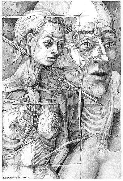 028 Drawing by Aleksander Rymarowicz