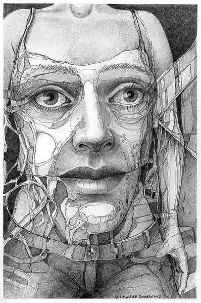 032 Drawing by Aleksander Rymarowicz