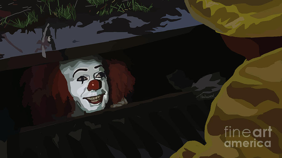Tv Show Painting - 036. They All Float Down Here by Tam Hazlewood