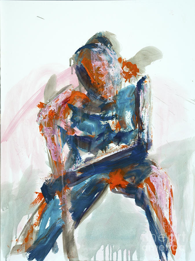 Gesture Painting - 04954 Athlete by AnneKarin Glass