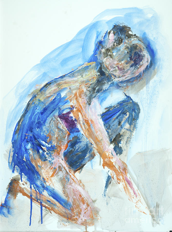Gesture Painting - 04955 Gardener by AnneKarin Glass