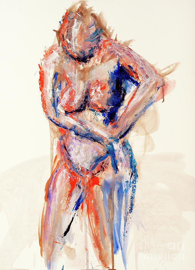Figure Painting - 04991 What Next by AnneKarin Glass