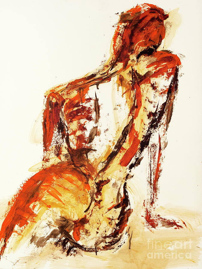 Figure Painting - 04992 Fine by AnneKarin Glass
