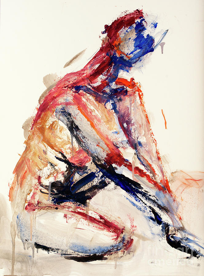 Figure Painting - 04996 Sunburn by AnneKarin Glass